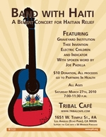 Band with Haiti: A Benefit for Haitian Relief