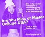 American Apparel College Model Search