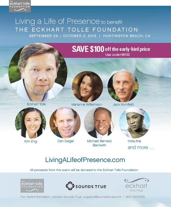 Celebrate the Launch of the Eckhart Tolle Foundation