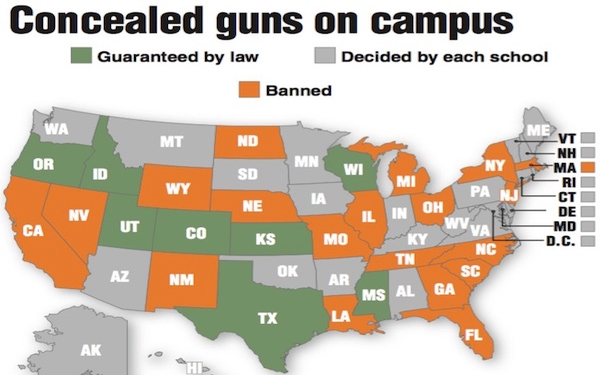 University of Texas at Austin feels backlash from campus-carry law before it goes into effect