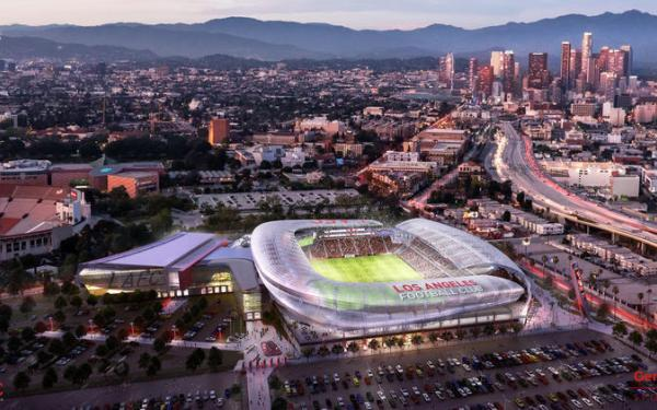 Expansion L.A. soccer team plans new stadium on Sports Arena site