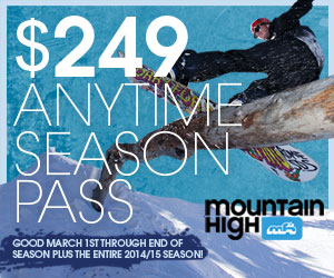 Mtn. High 2014-15 Season Pass