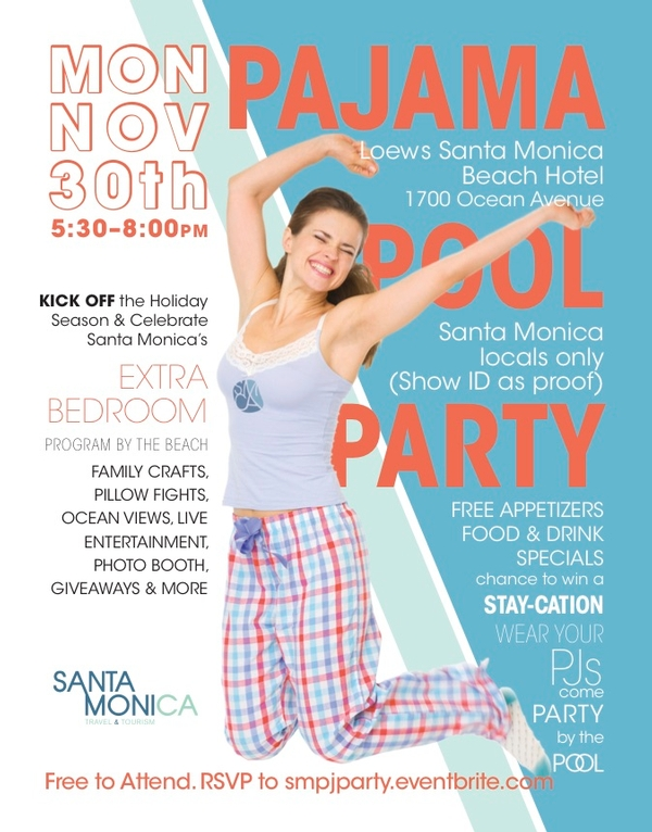 Santa Monica PJ Pool Party for Locals 11-30