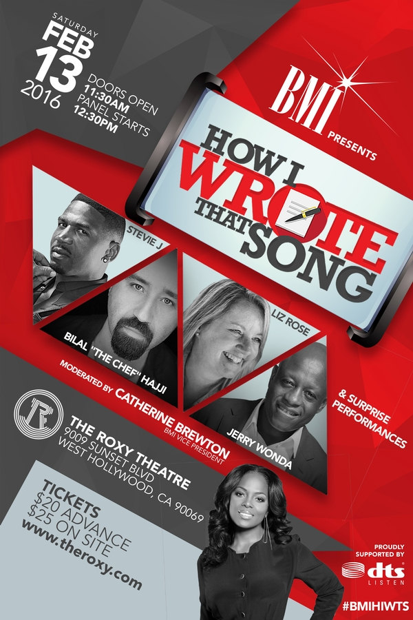 Pre-GRAMMY event: How I Wrote That Song presented by Broadcast Music, Inc.