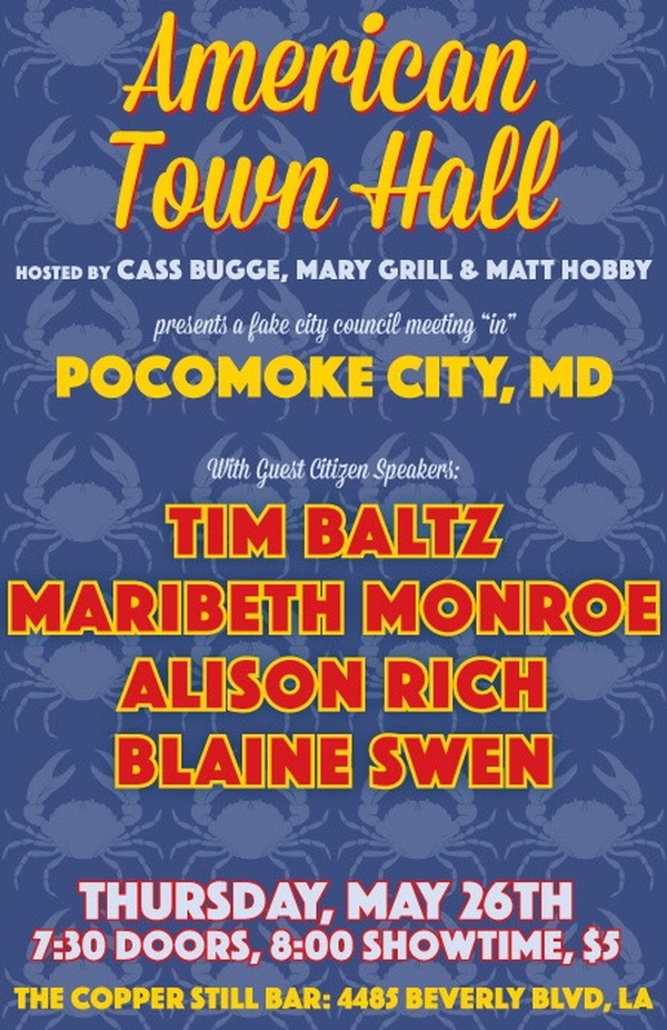 American Town Hall w/Tim Baltz, Maribeth Monroe and more