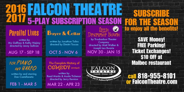 Announcing Falcon Theatre's 2016-2017 Subscription Season