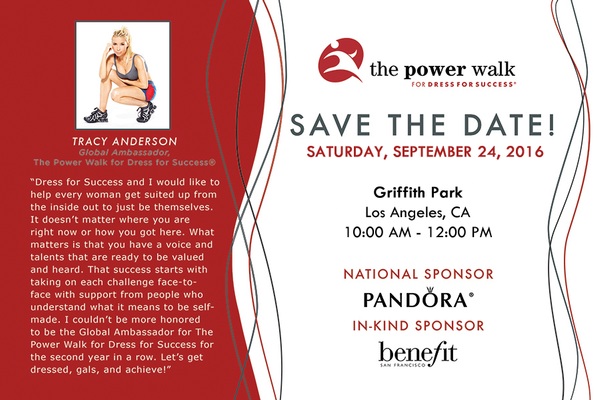 Dress for Success Worldwide West Hosts Power Walk with Tracy Anderson