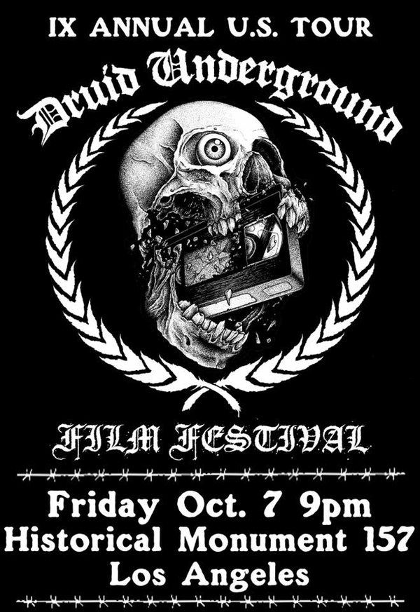 The IXth Annual Druid Underground Film Festival invades HM157 !