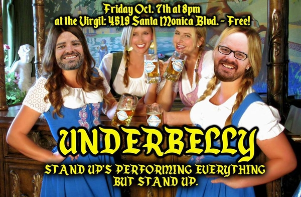 Underbelly! Friday Oct. 7th at The Virgil (FreeComedy)