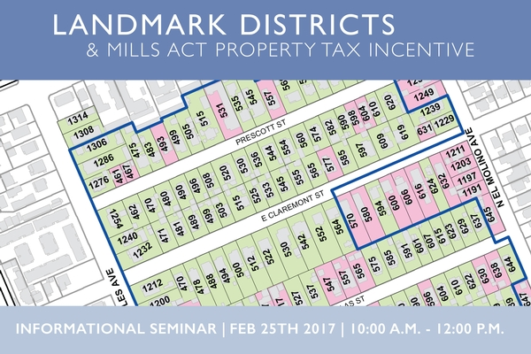 Become A Landmark District and Apply for the Mills Act Incentive