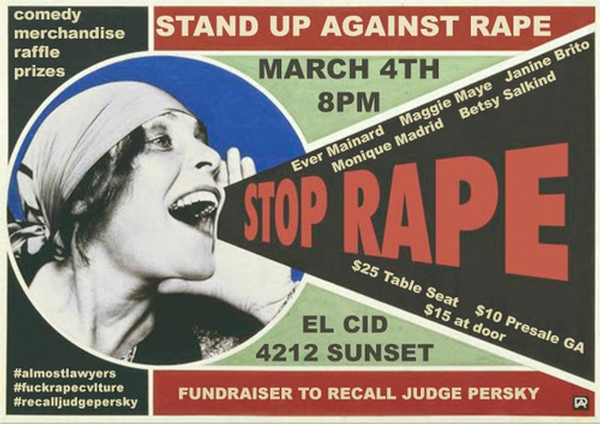 Stand Up Against Rape - Recall Judge Aaron Persky