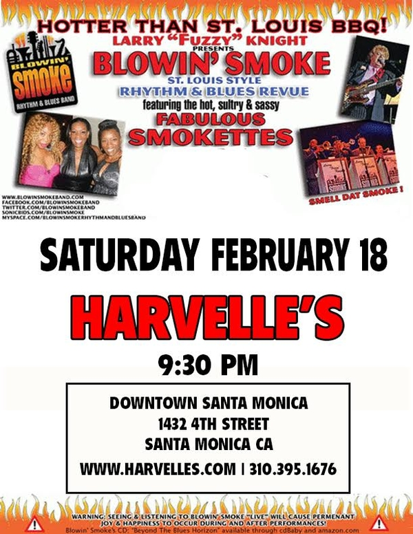 Blowin' Smoke Revue at Harvelle's Santa Monica