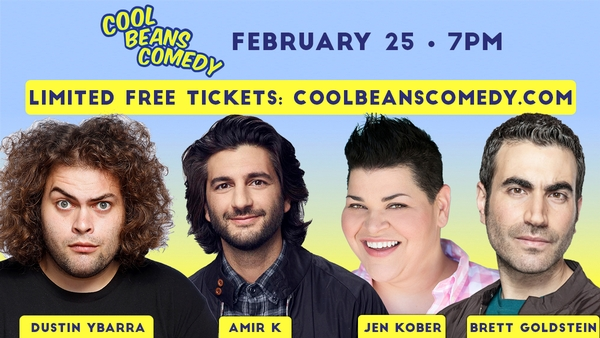 Free – ABC's Dustin Ybarra, MADtv's Amir K, HBO's Jen Kober - Cool Beans Comedy!