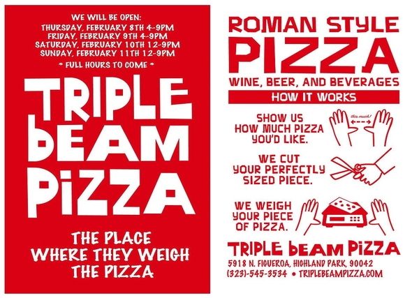 Triple Beam Pizza - Now Open!