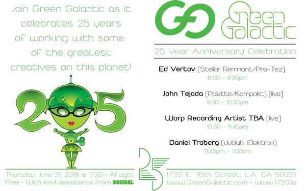 Green Galactic's 25th Year Anniversary Celebration