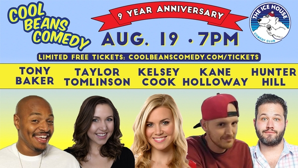 Free – Cool Beans Comedy 9 Year Anniversary Show with Tony Baker, Taylor Tomlinson + More!