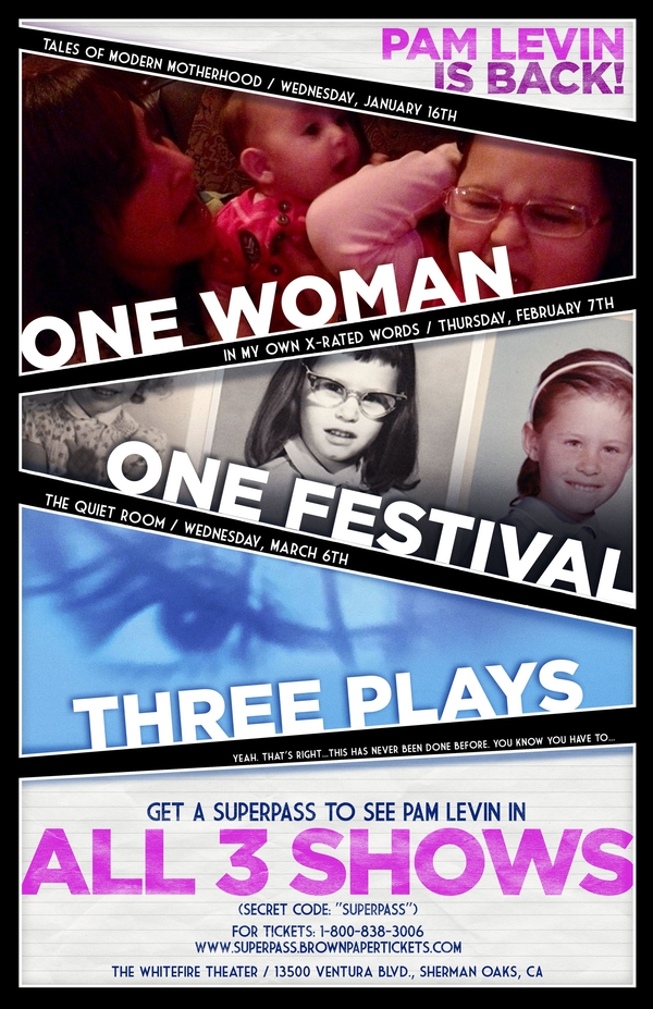 One Woman, One Festival, Three Plays | PAM LEVIN'S 2019 SOLOFEST TRIFECTA