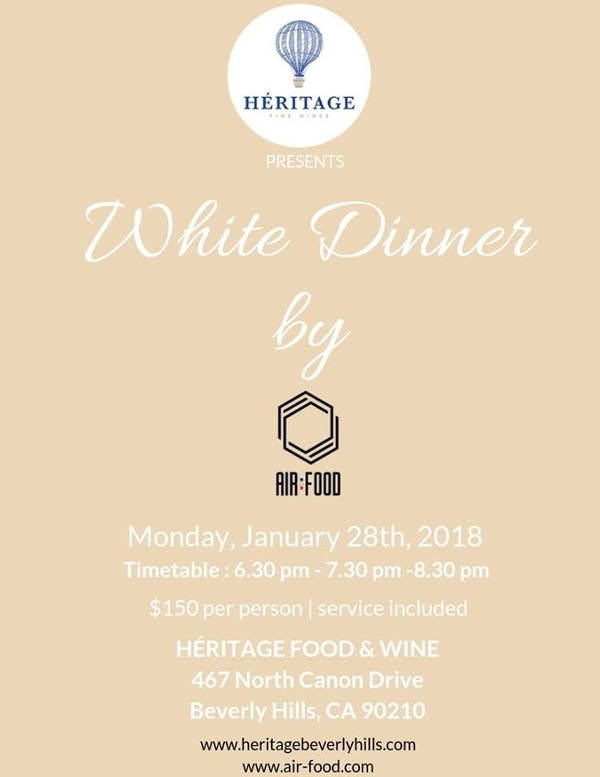 White Dinner By Air:Food