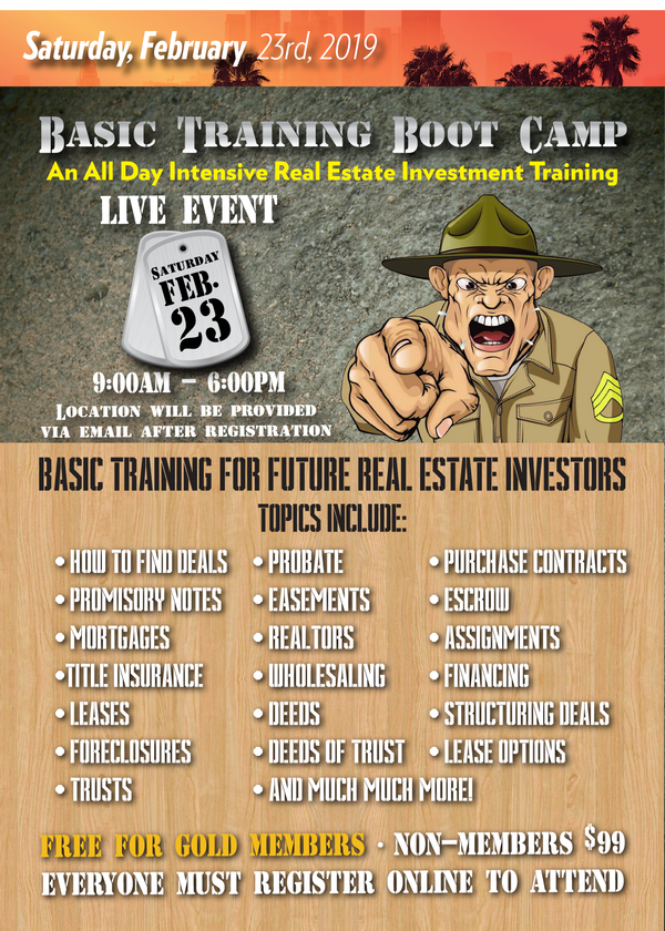 Basic Training Real Estate Boot Camp