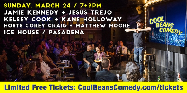 Free – Jamie Kennedy, Kane Holloway - Cool Beans Comedy!