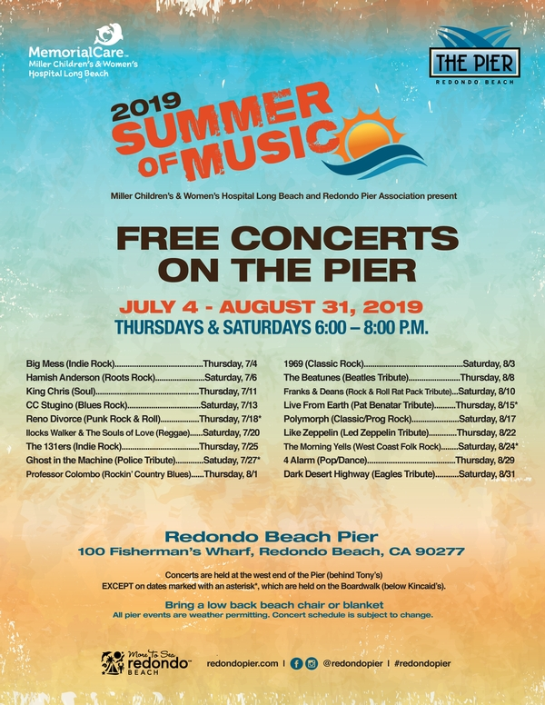 2019 Summer of Music Free Concerts on The Pier