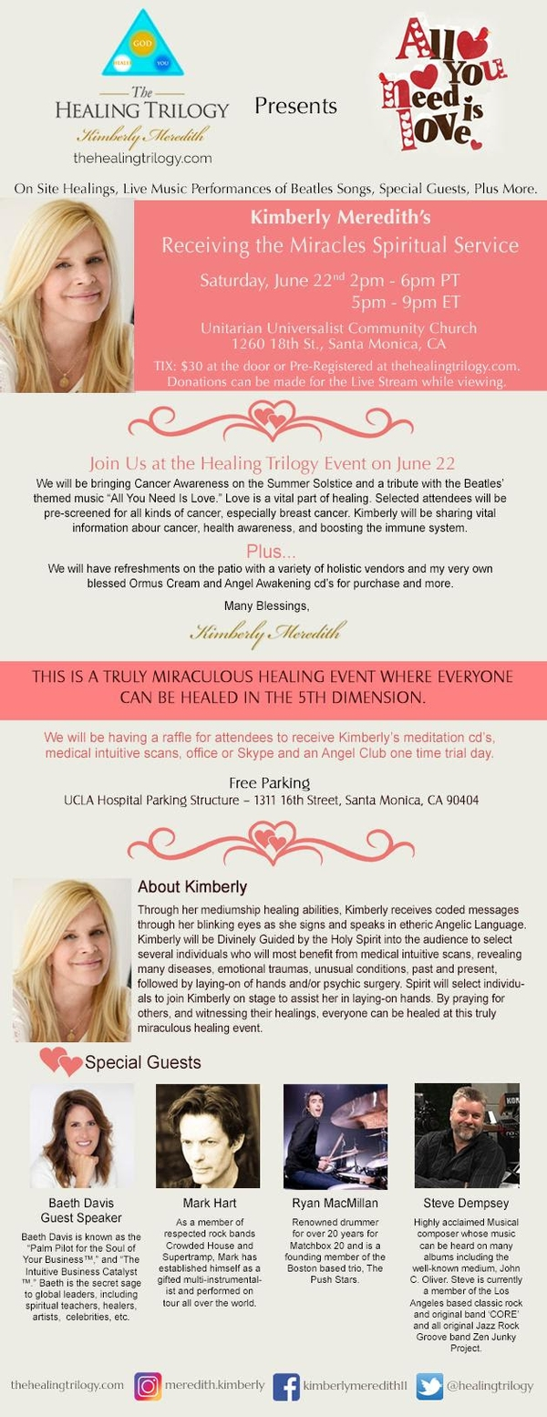 Medical Intuitive, Kimberly Meredith Presents