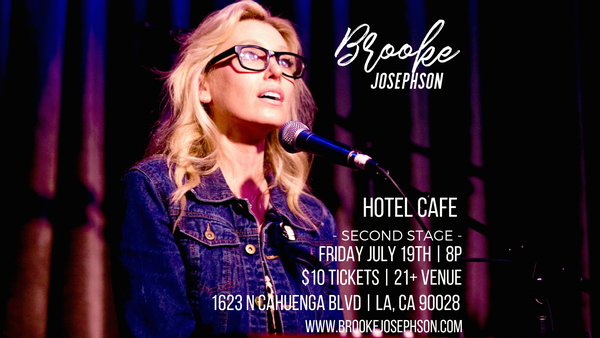 Catch Singer-Songwriter Brooke Josephson Perform Live on 7/19!