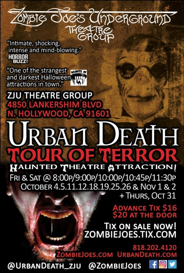 URBAN DEATH TOUR OF TERROR: Haunted Theatre Attraction!