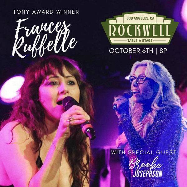 Pop-Rock Singer-Songwriter Brooke Josephson Performing Live with Frances Ruffelle at The Rockwell!