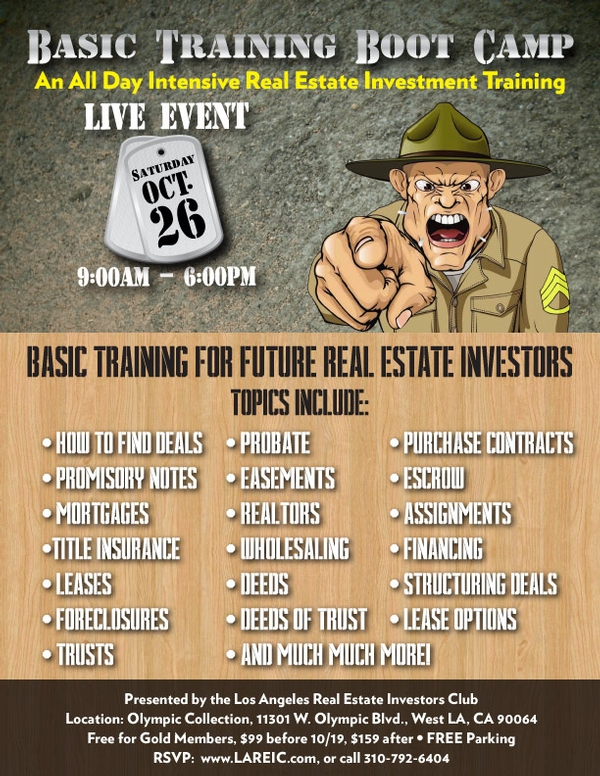 Real Estate Investing Basic Training Boot Camp