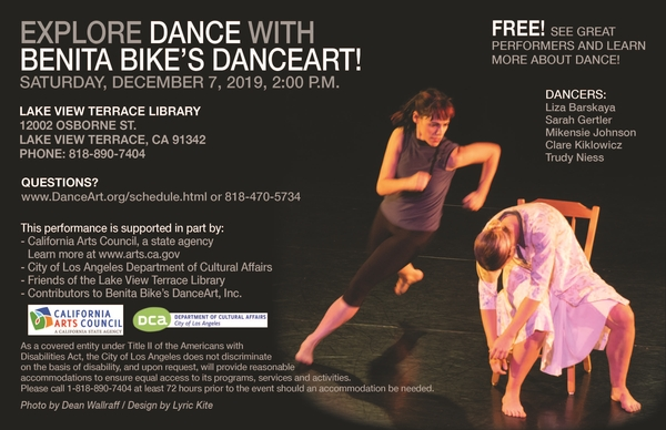 Benita Bike's DanceArt at Lake View Terrace Library