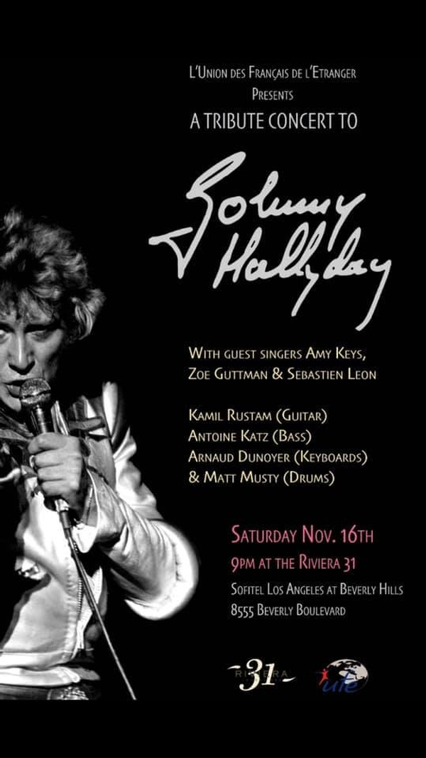 Tribute Concert to Johnny Hallyday at the RIVIERA 31