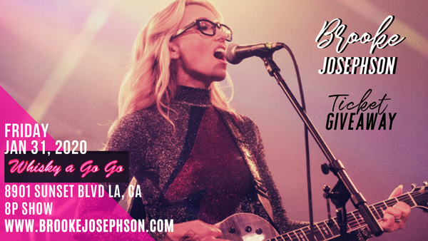 Pop-Rock Singer-Songwriter Brooke Josephson Performing Live at Whisky A Go Go!