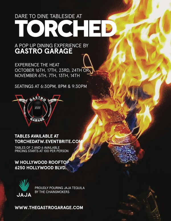 The Gastro Garage is Lighting up the Rooftop of the W Hollywood Starting Oct 16th