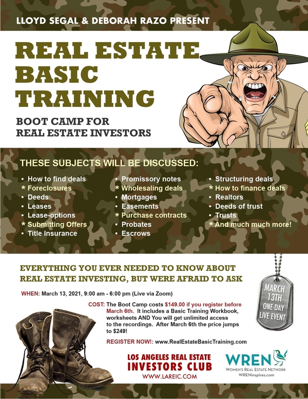 Real Estate Basic Training Boot Camp
