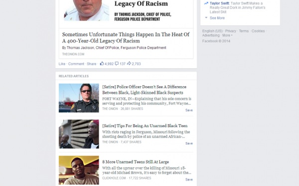 Facebook Might Create 'Satire' Feature to Identify News Stories
