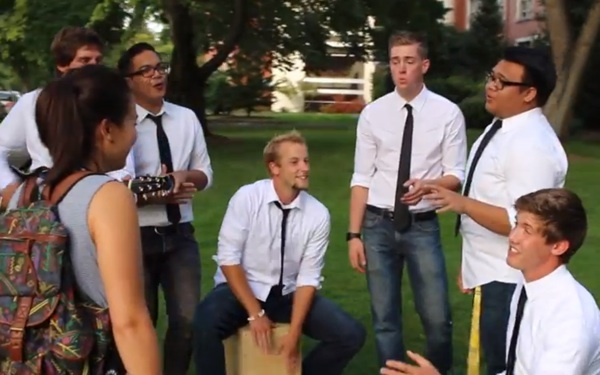 Group of Guys Went Around Serenading Women on College Campuses (VIDEO)