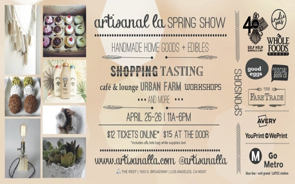 Celebrate Earth Day at this season's Artisanal LA Spring 2015 show April 25 & 26