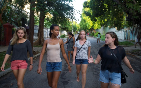 Studying abroad, US students catch a wave in Cuba