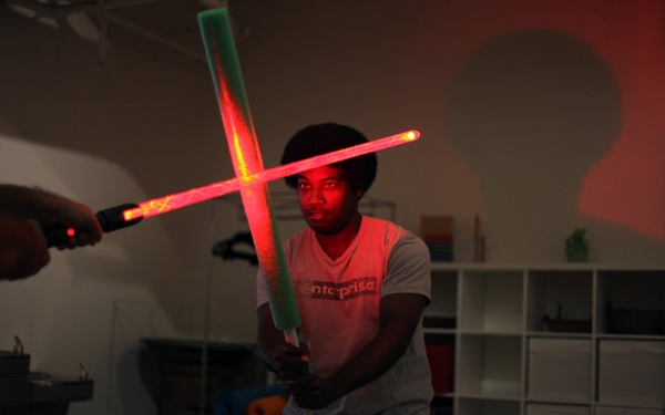 'Star Wars' devotees feel The Force in lightsaber class