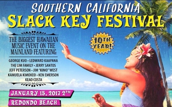 So. Cal Slack Key Fest. returns to Redondo Beach on 1/15