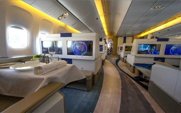 Plenty of legroom on Boeing 777 tailored for the world's richest