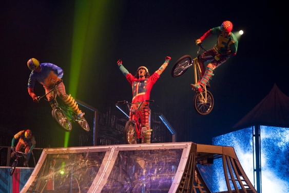 Cirque Du Soleil Volta under the Big Top at Dodger Stadium on January 18