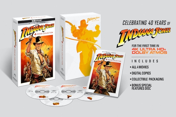 Indiana Jones 4-Movie Collection arrives in a new 4K Ultra HD set on June 8th