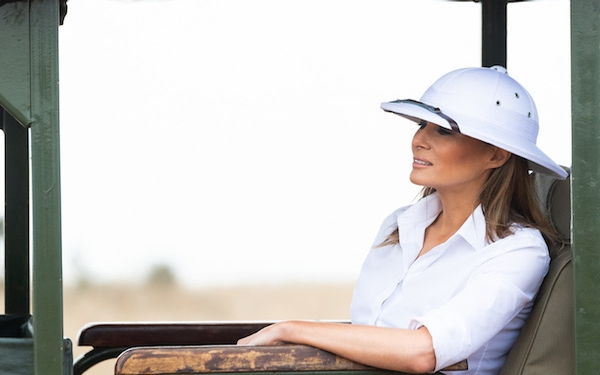 Why it matters that Melania Trump wore a pith helmet on her trip to Africa