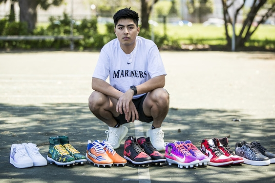 College freshman gets kicks designing cleats for major-leaguers