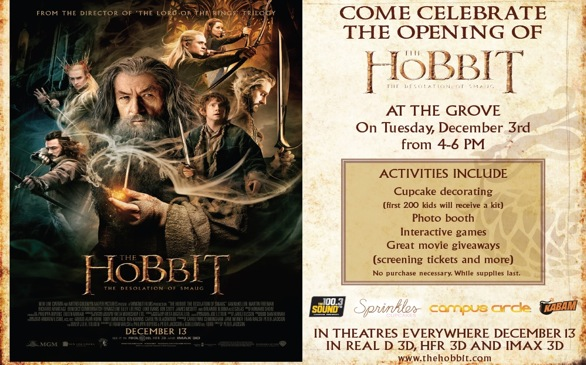 <i>The Hobbit: The Desolation of Smaug</i> Celebrates Opening with Activities at the Grove
