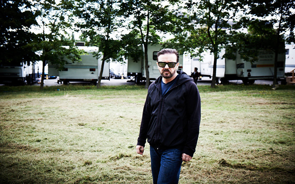 He's back! Ricky Gervais to host the Globes for a third time.