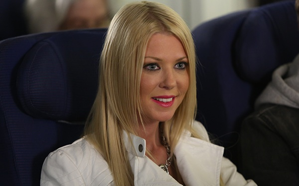 <i>Sharknado 2</i> Star Tara Reid Talks Shark Attacks, #Trending & College