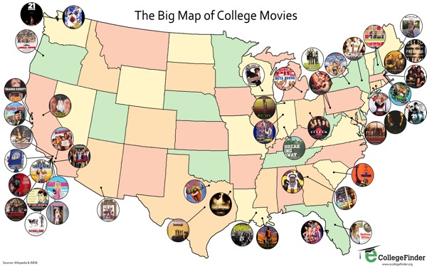 Presenting: The Big Map of College Movies!